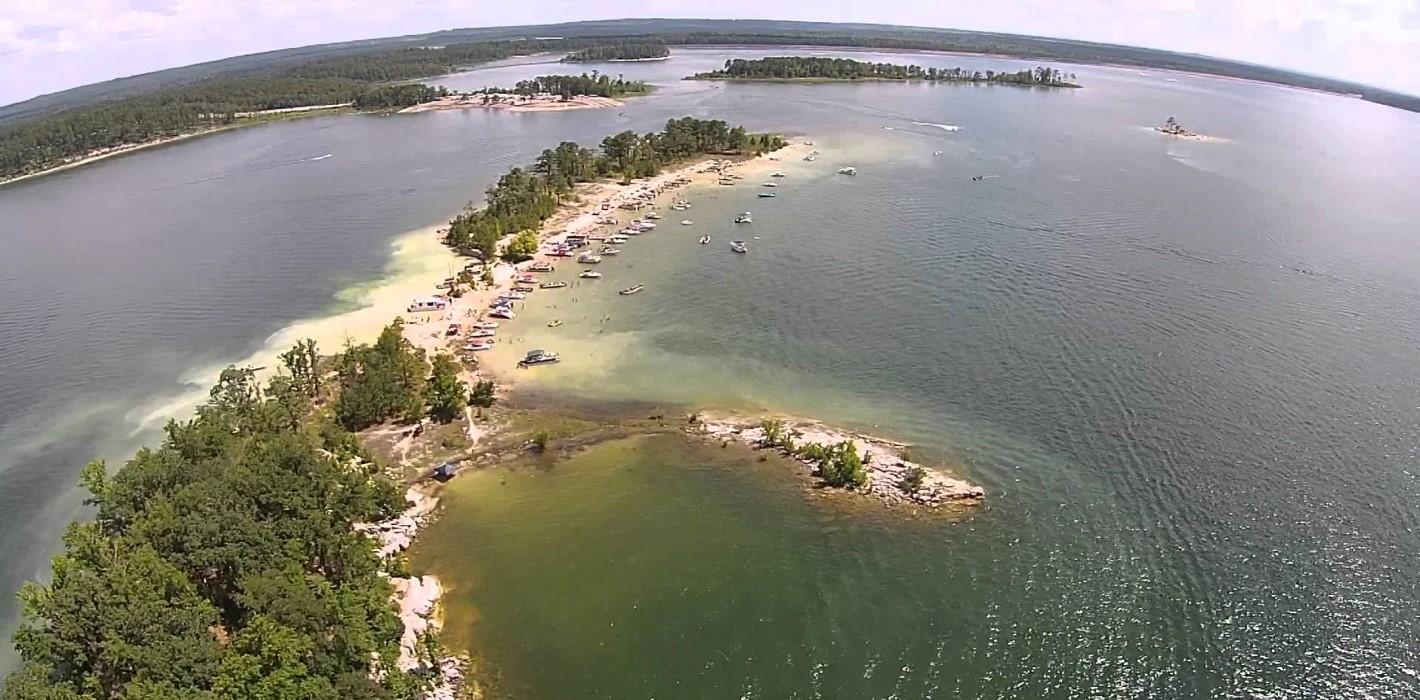 "Aerial View ""Rattlesnake"" Island"